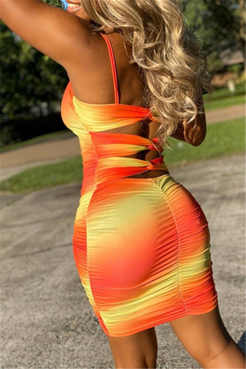 Color Changing Hollow Out Back Dress