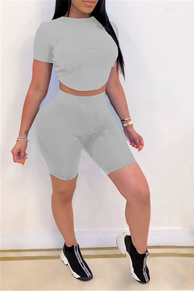 Back Bandage Top& Shorts Sets