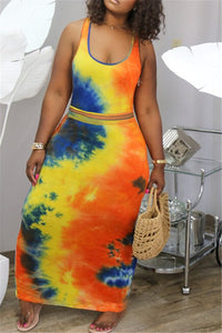 Tie Dye Tank& Skirt Sets