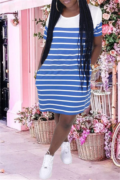 Casual Stripe Printed Dress