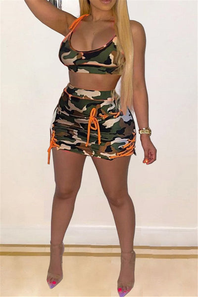 Camo Printed Bandage Two PC Sets