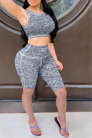 Sporty Yoga Sleeveless Sets