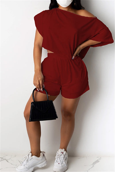 Off Shoulder Solid Color Sets