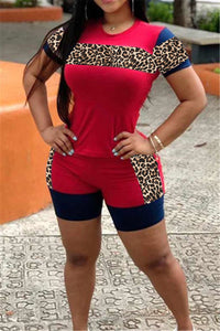 Leopard Splicing Sporty Sets