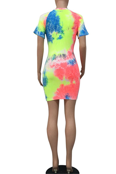 Tie Dye Bodycon Mini Dress