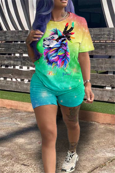 Tie Dye Lion Printed Sets