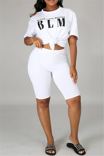 Casual Letter Printed Sporty Sets