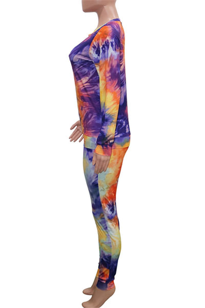 Tie Dye Long Sleeve Bodycon Sets
