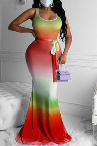 Color Changing Hollow Out Maxi Dress
