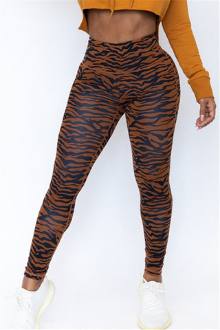 High Waist Printed Yoga Pants