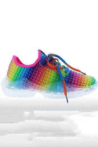 Color Changing Rainbow Bandage Sneakers