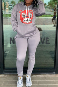 Cartoon Printed Hooded Sets