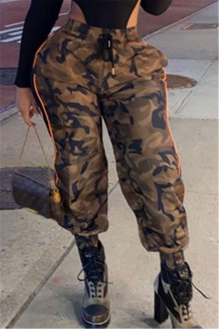 Casual Camo Printed Pants