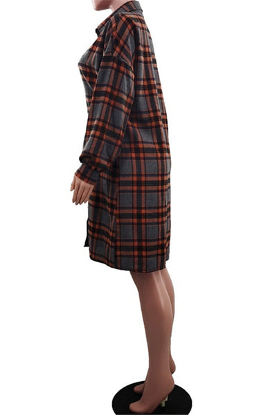 Puff Sleeve Womens Lattice Dress