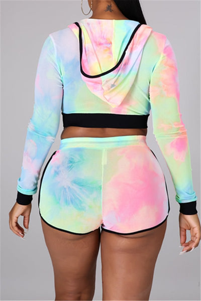 Tie Dye Hooded Womens Clothes