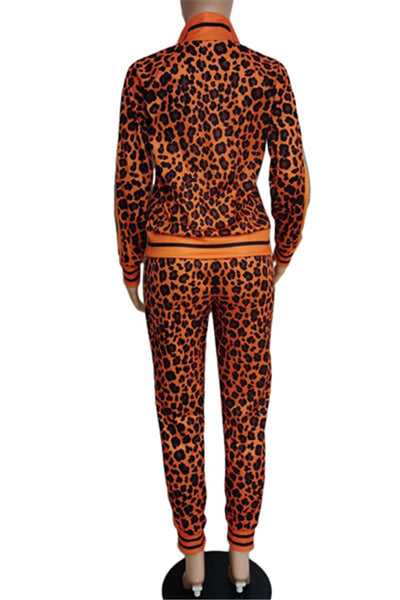 Casual Leopard Printed Womens Clothing