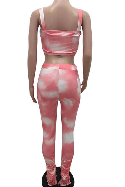 Tie Dye Ruched Womens Clothing