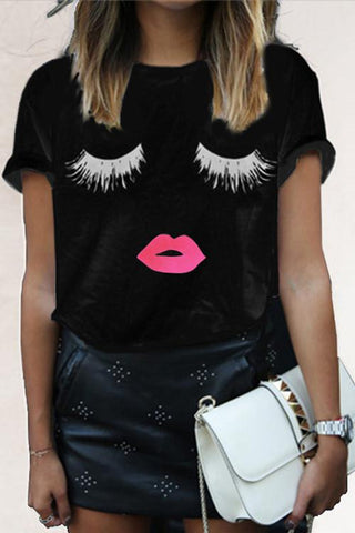 Pink Kiss Silhouette T-Shirt