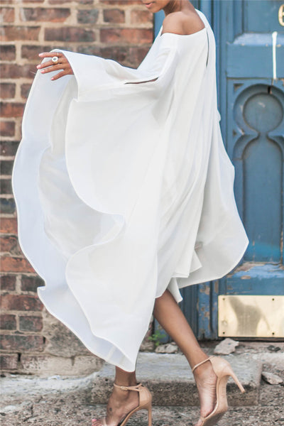 Chiffon Off Shoulder Dress