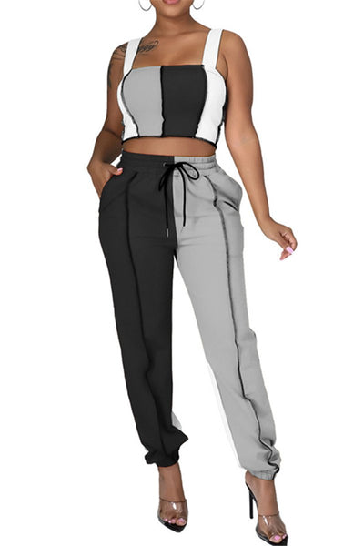 Color Splicing Womens Workout Sets