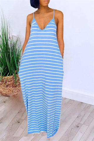 Striped Cami Casual Maxi Dress