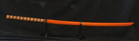 Orange Maple Bokken w/ Burned Ito Wrap