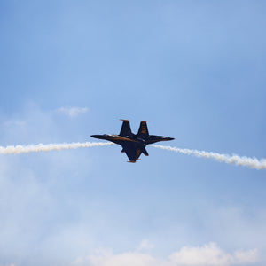 Blue Angels flyover captured in San Diego CA