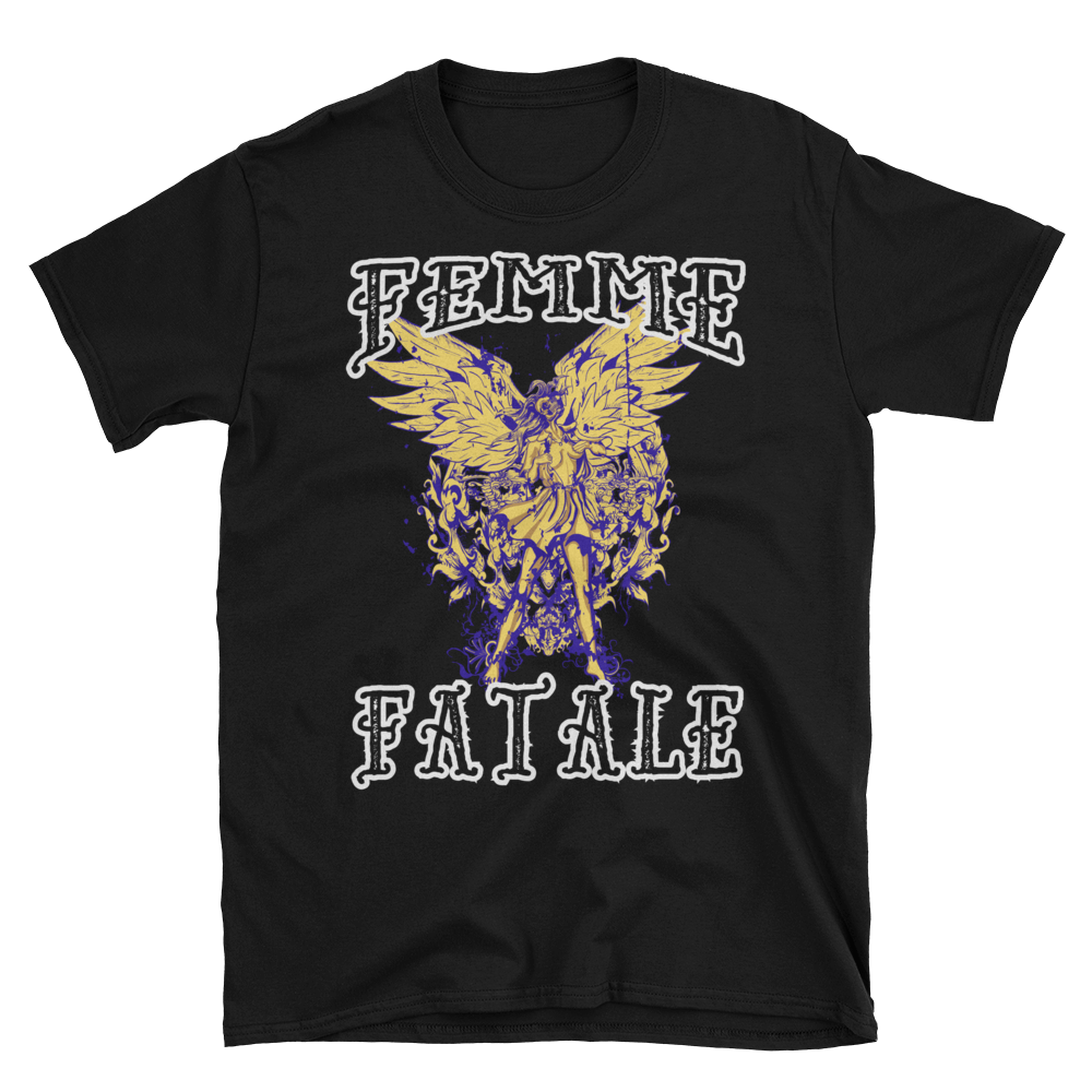 Femme Fatale Goth Angel Wings Unisex T-Shirt