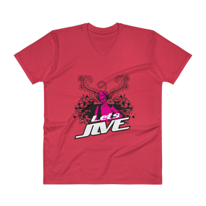 Let's Jive Dance Music Retro Style V-Neck T-Shirt