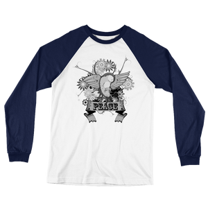 Peace and Freedom Long Sleeve Baseball T-Shirt