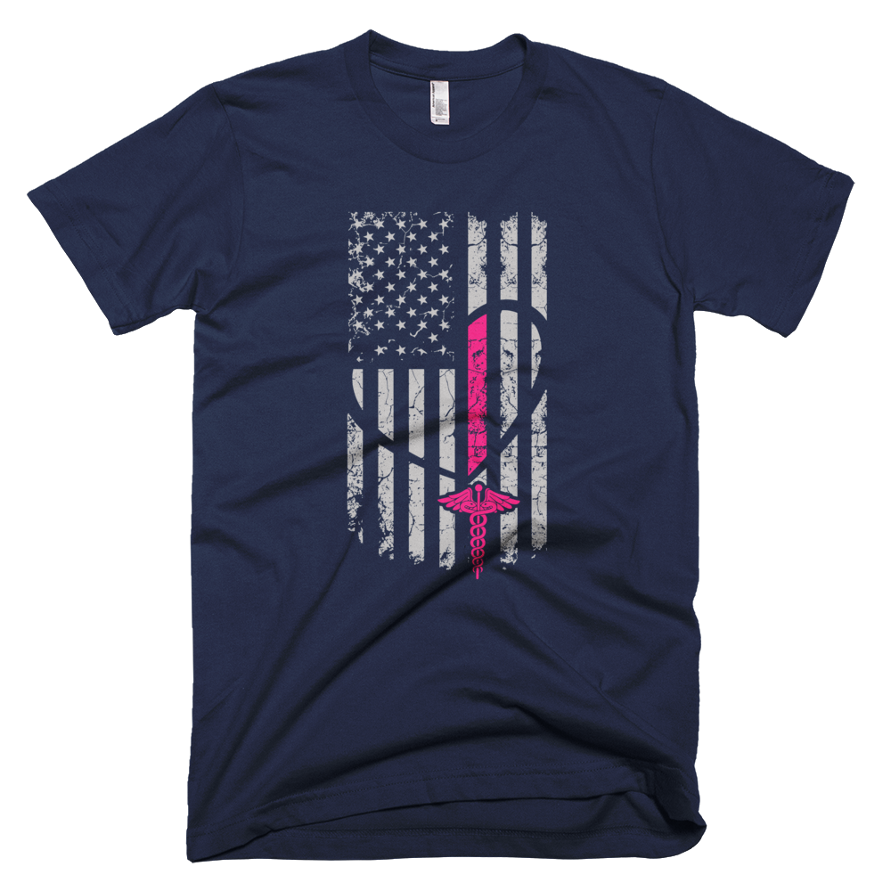 "Nursing Shirts ""Nurse Flag Shirt"" Men's Short-Sleeve T-Shirt"