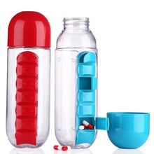 600ml Water Bottle And Daily Pill Organizer Tumbler