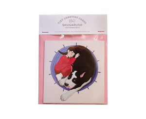 Tiny Dog Lover Greeting Card