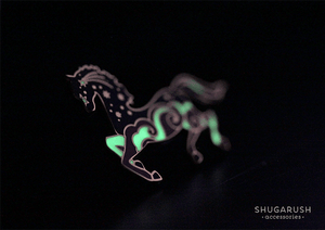 Horse Enamel Pin - Midnight