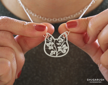 Floral Cat Lace Necklace