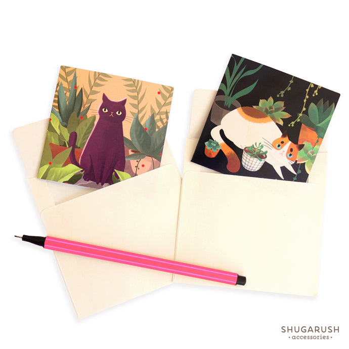 Tiny Cat Greeting Cards
