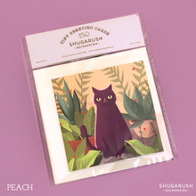 Tiny Cat Greeting Cards Set (2 Cards)