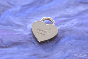 Wish Upon the Stars Padlock Necklace - Blue Pearlescent