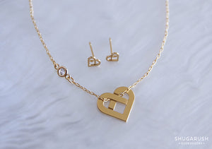 Love Knot Set: Earrings and Necklace