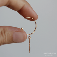 Key Charm Hoops (Gold Plated Sterling Silver)