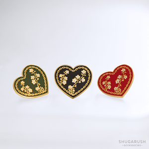 Red Heart and Chain Enamel Pin