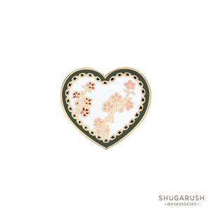 White Heart and Chain Enamel Pin
