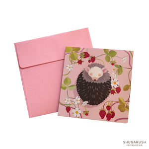 Tiny Hedgehog  Lover Greeting Card