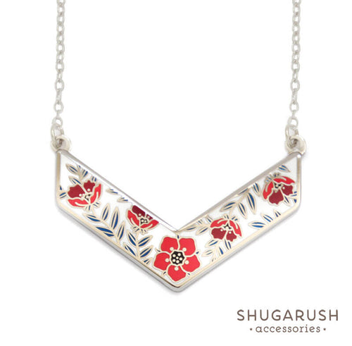 Americana Chevron Necklace