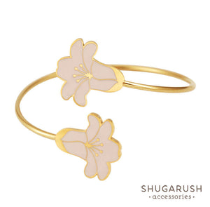 Blush Flower Bracelet - Bridal