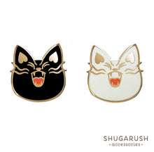 Black & White Bad Cat Pin Set