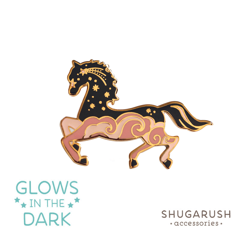 Horse Enamel Pin - Dawn