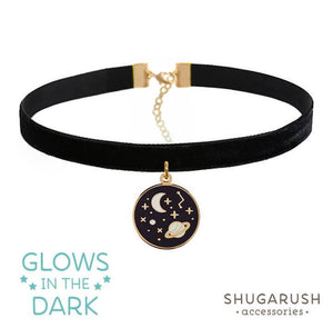 Glow in the Dark Galaxy Choker