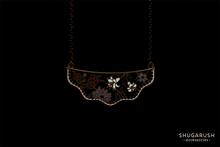 Wildflower necklace - Black