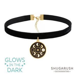 Moon Phase Choker Gold